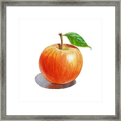 Red Apple Framed Print by Irina Sztukowski