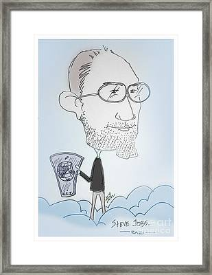 Apple Jobs Framed Print