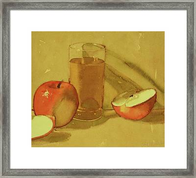 Apple Juice Framed Print