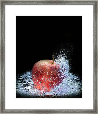 Framed Print featuring the photograph Apple by Krasimir Tolev