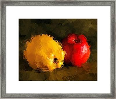 Apple Lemon Still Life Framed Print by Yury Malkov