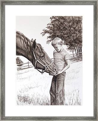 Apple Lovers Framed Print by Art By - Ti   Tolpo Bader