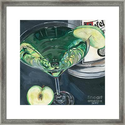 Apple Martini Framed Print by Debbie DeWitt