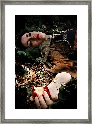 Apple Of Death Framed Print by Cherie Haines