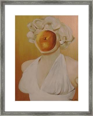 Apple Of Her Eye Framed Print