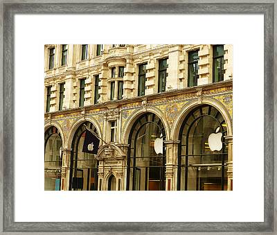 Apple On Regent Street Framed Print