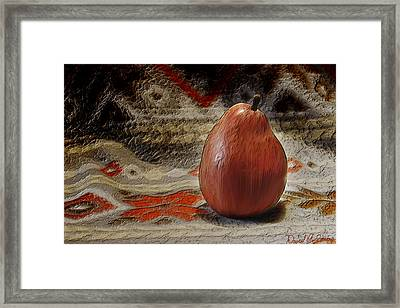 Apple Pear Framed Print by David Simons