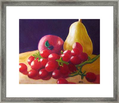 Apple Pear Grapes Framed Print
