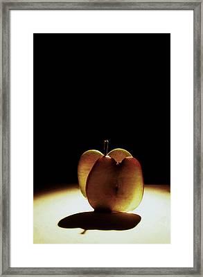 Apple Slices Framed Print by Alfredo Martinez