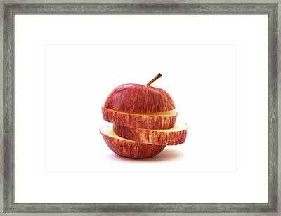 Apple Slices Framed Print