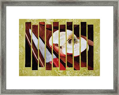 Apple Slices Framed Print