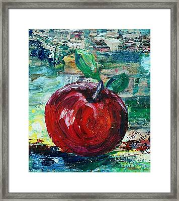 Apple - Sold Framed Print by Judith Espinoza