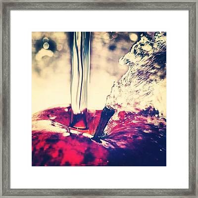 Apple Splash! Framed Print
