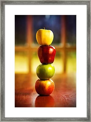 Apple Stack Framed Print