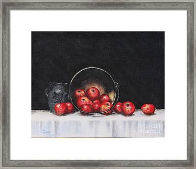 Apple Still Life Framed Print by Rita Miller