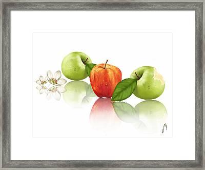 Apple Story Framed Print by Veronica Minozzi