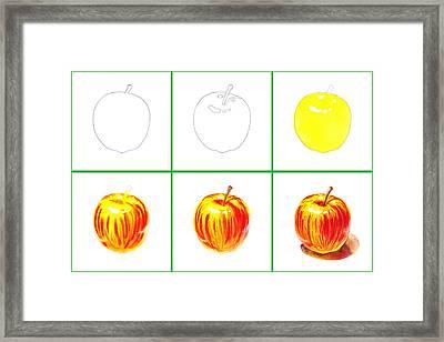Apple Study Framed Print by Irina Sztukowski