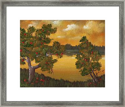 Apple Sunset Framed Print