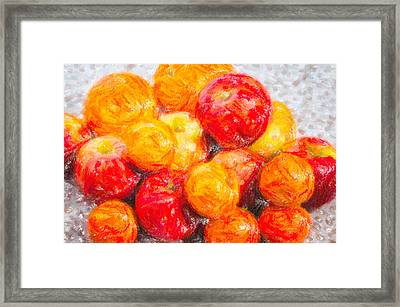 Apple Tangerine And Oranges Framed Print