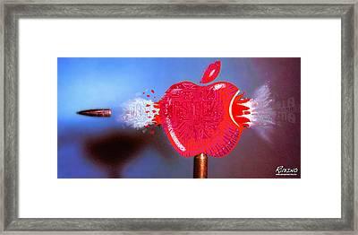 Apple Framed Print by Tony Rubino