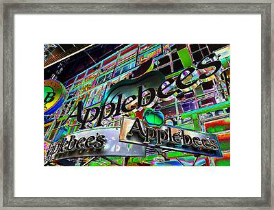 Applebee's Restaurant Sign At New York City Framed Print by Lanjee Chee