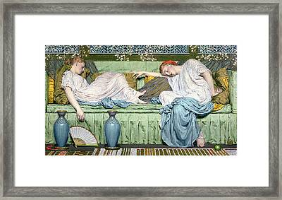 Apples Framed Print by Albert Joseph Moore