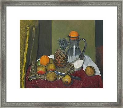 Apples And A Pineapple Framed Print by Felix Edouard Vallotton