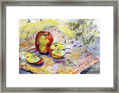 Apples And Bees French Country Framed Print