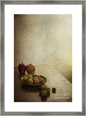 Apples And Figs Framed Print by Margie Hurwich