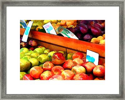 Apples And Pears And Plums Oh My Framed Print