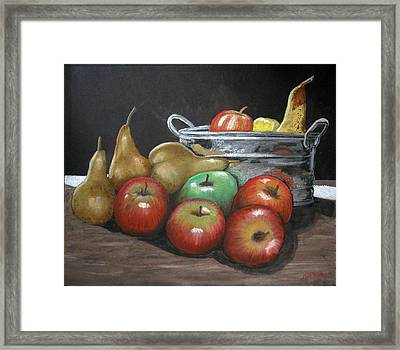 Apples And Pears Framed Print