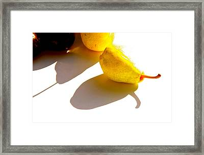 Apples And Pears Framed Print by Tracy Male