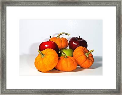 Apples And Pumpkins2 Framed Print