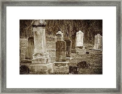 Apples Church Cemetery Framed Print