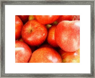 Apples Framed Print by Cynthia Lassiter