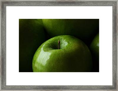 Framed Print featuring the photograph Apples Green by Lorenzo Cassina