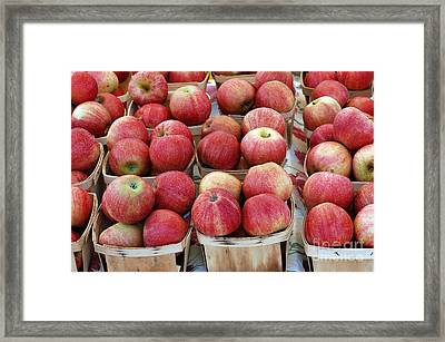 Apples In Small Baskets Framed Print