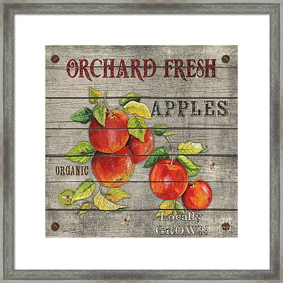 Apples-jp2674 Framed Print by Jean Plout