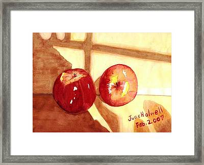 Framed Print featuring the painting Apples by June Holwell