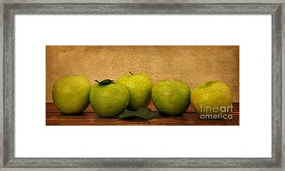 Apples Still Life Framed Print by Malu Couttolenc