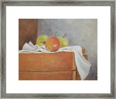 Apples Framed Print by Mary Adam