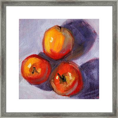 Apples Framed Print by Nancy Merkle