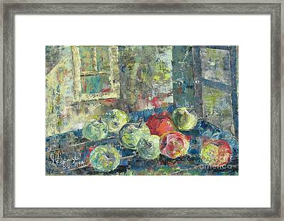 Apples - Sold Framed Print by Judith Espinoza