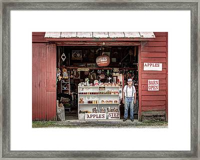Apples. The Natural Temptation - Farmer And Old Farm Signs Framed Print