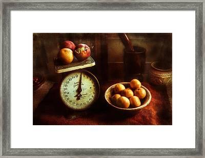 Apples To Oranges Framed Print