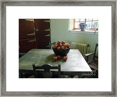 Framed Print featuring the photograph Apples by Valerie Reeves