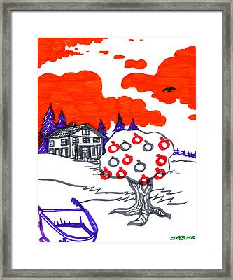Appletree Psyche-scape Framed Print