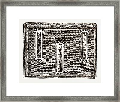 Applique, 19th Century Framed Print by Litz Collection
