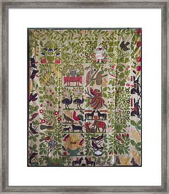 Applique Quilt Top, C1860 Framed Print by Granger