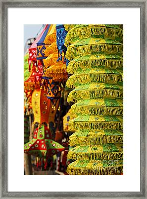 Applique Work In Pipli India Framed Print by Robert Preston